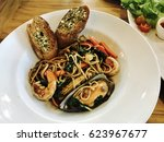 spaghetti pepper and hot basil... | Shutterstock . vector #623967677