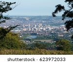 downtown belfast from cave hill ... | Shutterstock . vector #623972033