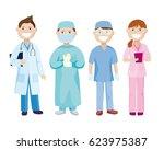 healthcare professionals.... | Shutterstock .eps vector #623975387