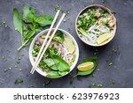 traditional vietnamese noodle... | Shutterstock . vector #623976923