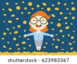 vector illustration of young... | Shutterstock .eps vector #623983367