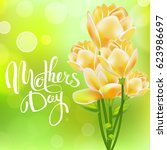 happy mothers day. lettering. ... | Shutterstock .eps vector #623986697