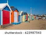 brighton beach boxes  melbourne ... | Shutterstock . vector #623987543