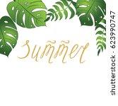 vector banner with calligraphy... | Shutterstock .eps vector #623990747