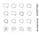 speech bubble vector line icons ... | Shutterstock .eps vector #623997587