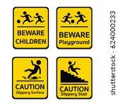 caution sign or pedestrian sign ...   Shutterstock .eps vector #624000233