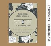 wedding invitation card.... | Shutterstock .eps vector #624003677