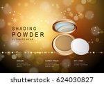 elegant powder isolated on... | Shutterstock .eps vector #624030827