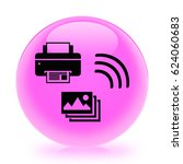 mobile photo printing icon.... | Shutterstock . vector #624060683