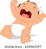 baby crying cartoon | Shutterstock .eps vector #624065297
