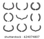 set of laurel wreaths.vector... | Shutterstock .eps vector #624074807