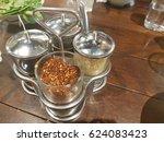 thai bunch ingredient flavoring ...   Shutterstock . vector #624083423