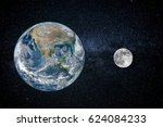 Earth And Moon   Size Of...