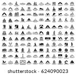 mega set and big group  real... | Shutterstock .eps vector #624090023