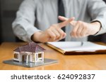 bank does not approve home loan | Shutterstock . vector #624092837
