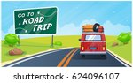 go to a road trip  vector... | Shutterstock .eps vector #624096107