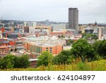 sheffield skyline  uk. | Shutterstock . vector #624104897