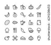 Food Line Vector Icons 8
