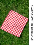 the checkered tablecloth on the ... | Shutterstock . vector #624108947