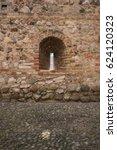Old Small Castle Brick Window...