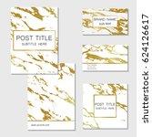 set of business cards  banner... | Shutterstock .eps vector #624126617