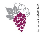grape heart | Shutterstock .eps vector #624129413