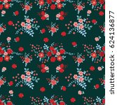 flowery bright pattern in small ... | Shutterstock .eps vector #624136877