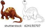 doodle animal for brachiosaurus ... | Shutterstock .eps vector #624150707