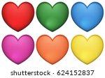 icon design of heart shape in... | Shutterstock .eps vector #624152837