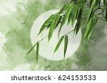abstract watercolor oriental... | Shutterstock . vector #624153533