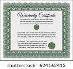 green warranty template. lovely ... | Shutterstock .eps vector #624162413