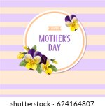 mother's day card. vintage... | Shutterstock .eps vector #624164807