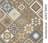seamless ceramic tile with...   Shutterstock .eps vector #624173453