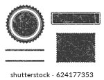 set of grunge stamps template... | Shutterstock .eps vector #624177353
