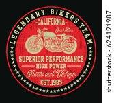 california legendary bikers...   Shutterstock .eps vector #624191987