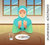 a vector illustration of muslim ... | Shutterstock .eps vector #624196643