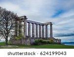 national monument of scotland ... | Shutterstock . vector #624199043
