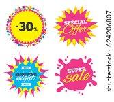 sale splash banner  special... | Shutterstock .eps vector #624206807
