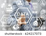 data insight analysis business... | Shutterstock . vector #624217073