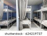 interior of a hostel   Shutterstock . vector #624219737