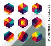 set of colorful cube | Shutterstock .eps vector #624221783