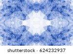 seamless kaleidoscope pattern.... | Shutterstock .eps vector #624232937