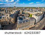Aerial Panorama Of Cambridge  Uk