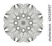 adult coloring page. mandala... | Shutterstock .eps vector #624233957