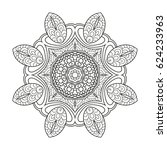 adult coloring page. mandala... | Shutterstock .eps vector #624233963