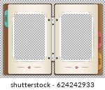 illustration of a photo album... | Shutterstock .eps vector #624242933
