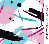 expressive pink blue... | Shutterstock .eps vector #624244673