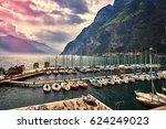 riva del garda  italy  april 16 ... | Shutterstock . vector #624249023