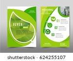 vector green annual report... | Shutterstock .eps vector #624255107