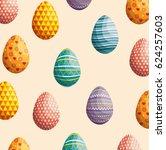 eggs painted easter celebration | Shutterstock .eps vector #624257603